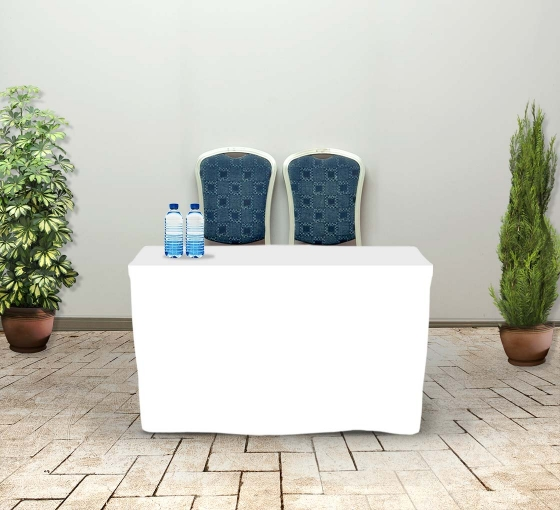 4' Fitted Table Covers - White