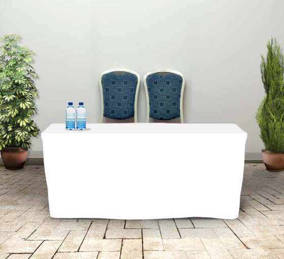 6' Fitted Table Covers - White