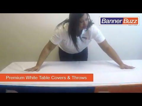 Premium White Table Covers & Throws - 4 Sided