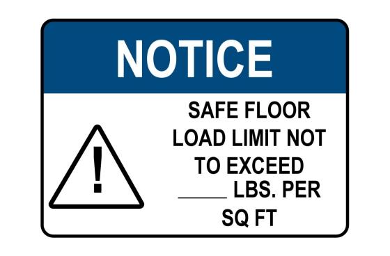 Floor Load Limit Sign