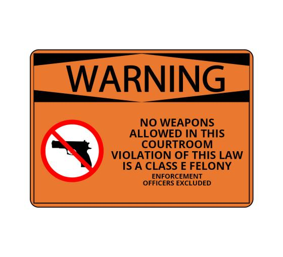 No Weapons Allowed Sign