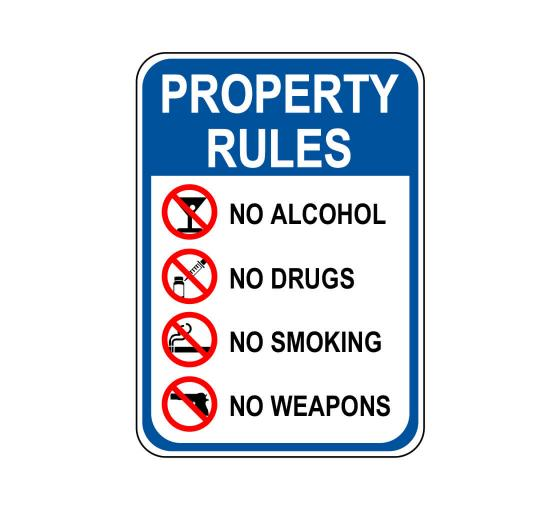 Property Rules Sign