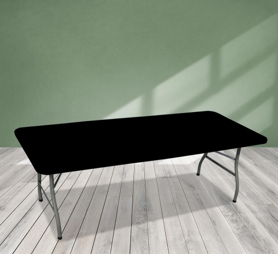 8' Rectangle Table Toppers - Black