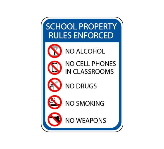 School Property Sign