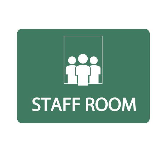 Staff Room Sign